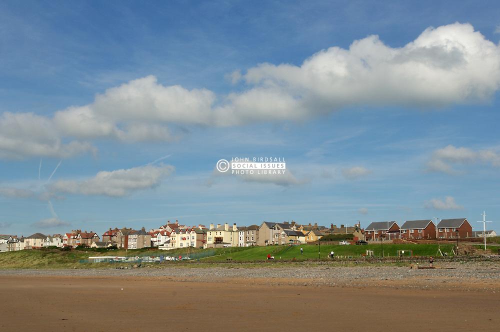 Seascale village near Sellafield nuclear reprocessing plant; Cumbria UK