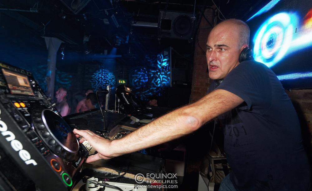 London, United Kingdom - 2 November 2013<br /> DJ Pete Wardman DJing at the 23rd birthday party for Trade gay club night at Egg nightclub, York Way, King's Cross, London, England, UK.<br /> Contact: Equinox News Pictures Ltd. +448700780000 - Copyright: ©2013 Equinox Licensing Ltd. - www.newspics.com<br /> Date Taken: 20131102 - Time Taken: 204523+0000