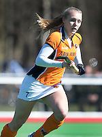 AMSTELVEEN - HOCKEY - Kyra Fortuin van OZ  tijdens de hoofdklasse hockeywedstrijd tussen de vrouwen van Hurley en Oranje-Zwart.  COPYRIGHT KOEN SUYK