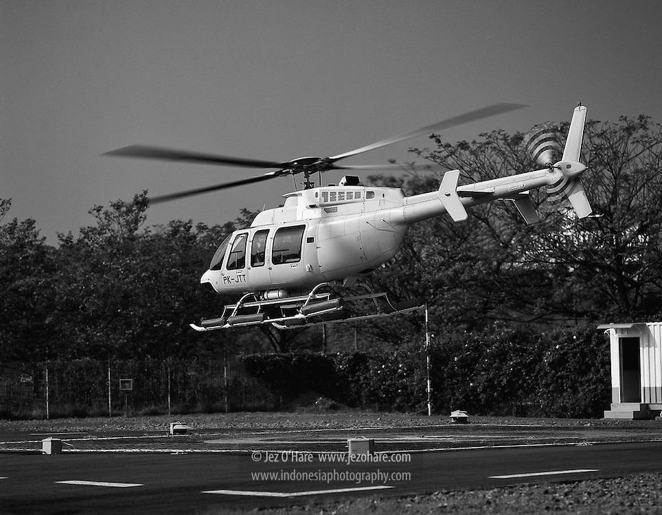 Air Pacific Bell 407, Karawaci Helipad, Tangerang, Banten, Indonesia,