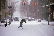 Blizzard, Greenwich Village, Manhattan, New York