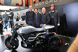 Cycle and Motorcycle salon Eicma 2017 at Rho's Fair, Keanu Reeves at the Presentation of his ARCH Motorcycle Company , Miman, Italy on November 8, 2017. Photo by Fotogramma/ANDBZ/ABACAPRESS.COM
