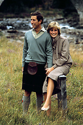 """Embargoed to 0001 Monday August 21 File photo dated 19/08/81 of the Prince and Princess of Wales in Balmoral. Diana, Princess of Wales was a woman whose warmth, compassion and empathy for those she met earned her the description the """"people's princess""""."""