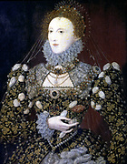 Elizabeth I (1533-1603) Queen of England and Ireland from 1558, last Tudor monarch. The Phoenix portrait attributed to Nicholas Hilliard (1537-1619) 1575