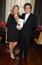 Writer IMOGEN EDWARDS-JONES and her husband KENTON ALLEN at a party to celebrate the publication of Air Babylon by Imogen Edwards-Jones held at Fifty, 50 St.James's Street, London SW1 on 4th July 2005.<br /><br />NON EXCLUSIVE - WORLD RIGHTS