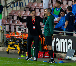 WREXHAM, WALES - Thursday, September 17, 2020: FC Dinamo Tbilisi's head coach Francisco Javier Muñoz Llompart 'Xisco' reacts during the UEFA Europa League Second Qualifying Round match between Connah's Quay Nomads FC and FC Dinamo Tbilisi at the Racecourse Ground. Dinamo Tiblisi won 1-0. (Pic by David Rawcliffe/Propaganda)