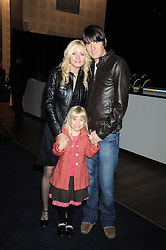 """DAN HIPGRAVE, his daughter HONEY (his daughter with Gail Porter) and his fiance LYNSEY HORN at a VIP Opening night of Disney & Pixar's """"Finding Nemo on Ice"""" at The O2 Arena Grennwich London on 23rd October 2008."""