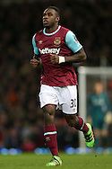 Michail Antonio of West Ham United looks on. The Emirates FA cup, 4th round replay match, West Ham Utd v Liverpool at the Boleyn Ground, Upton Park  in London on Tuesday 9th February 2016.<br /> pic by John Patrick Fletcher, Andrew Orchard sports photography.