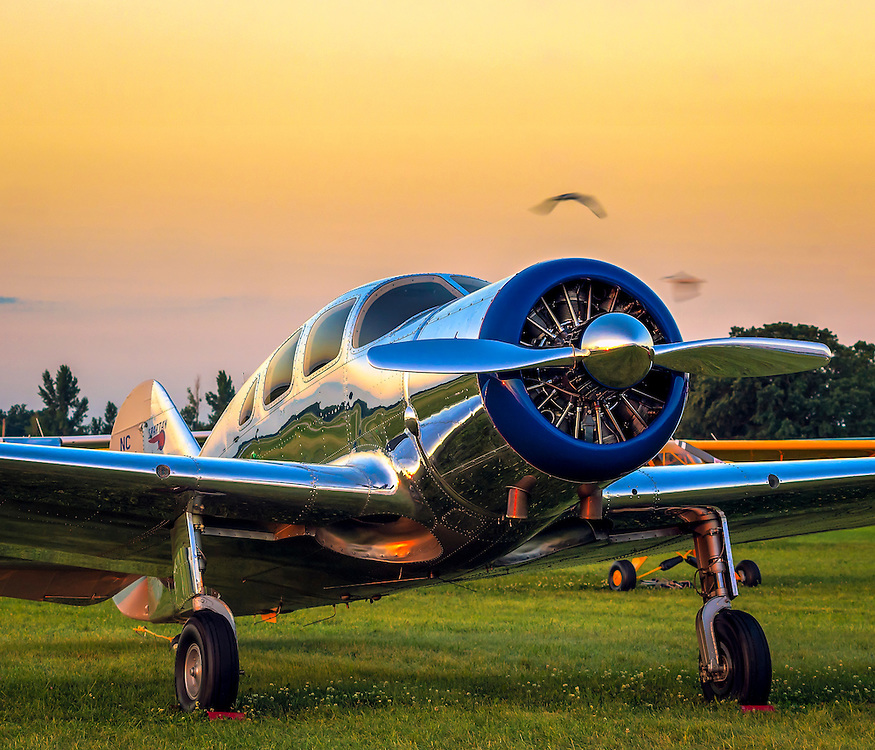 A rare Spartan Executive, photographed during AirVenture 2015 in Oshkosh, Wisconsin.   <br /> <br /> Created by aviation photographer John Slemp of Aerographs Aviation Photography. Clients include Goodyear Aviation Tires, Phillips 66 Aviation Fuels, Smithsonian Air & Space magazine, and The Lindbergh Foundation.  Specialising in high end commercial aviation photography and the supply of aviation stock photography for advertising, corporate, and editorial use.