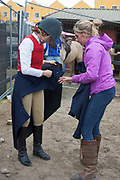17/08/2017 Lucinda Kelly getting ready at the Connemara Pony Show in Clifden. Photo:Andrew Downes, xposure