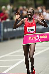 NYRR Mini 10K road race (40th year); Edna Kiplagat, Kenya, wins