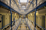 Inside a residential wing. HMP Wandsworth, London, United Kingdom