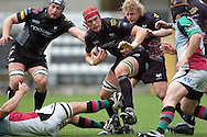 EDF Energy Cup - Ospreys v Harlequins at the Liberty Stadium in Swansea..Alun Wyn Jones in action..