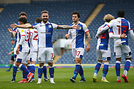 Goal 5-2 Blackburn Rovers forward Adam Armstrong (7)  scores a goal 5-2 and celebrates during the EFL Sky Bet Championship match between Blackburn Rovers and Birmingham City at Ewood Park, Blackburn, England on 8 May 2021.