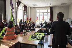 October 9, 2018 - Paris, Ile-de-France (region, France - Meeting between two SNCF executives and different railway unions. (Credit Image: © Adrien Vautier/Le Pictorium Agency via ZUMA Press)