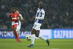 December 6, 2017 - Na - Porto, 06/12/2017 - Football Club of Porto received, this evening, AS Monaco FC in the match of the 6th Match of Group G, Champions League 2017/18, in Estádio do Dragão. Danilo Pereira makes pass to Aboubakar  (Credit Image: © Atlantico Press via ZUMA Wire)