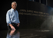 MONTGOMERY, AL -- 5/25/17 -- Even at age 80, Morris Dees still comes into the office daily. The attorney has made a career taking down racist organizations and hate groups over the years, and has created an infrastructure to continue that work well into the future. Dees stands in front of the Civil Rights Memorial, commissioned by the SPLC and dedicated in 1989,<br /> Civil Rights attorney Morris Dees co-founded the Southern Poverty Law Center in 1971. The group has taken on the Ku Klux Klan and fought for against hate for decades, but is now facing criticism that it has labeled some groups without just cause..…by André Chung #_AC29871
