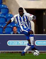 Football Carling Cup First Round Colchester United v Leyton Orient Magnus Okuonghae of Colchester United at Weston Homes Community Stadium, Colchester 11/08/2009 Credit: Colorsport / Kieran Galvin