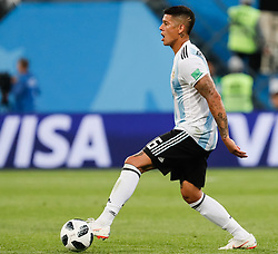 June 26, 2018 - Saint Petersburg, Russia - Marcos Rojo of Argentina national team during the 2018 FIFA World Cup Russia group D match between Nigeria and Argentina on June 26, 2018 at Saint Petersburg Stadium in Saint Petersburg, Russia. (Credit Image: © Mike Kireev/NurPhoto via ZUMA Press)