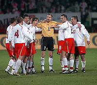 26/03/2005 WARSAW POLAND<br /> 26/03/2005 POLAND v AZERBAIJAN World Cup 2006 Qualifying Group 6 <br /> POLAND'S TEAM CELEBRATE VICTORY AGAINST AZERBAIJAN /8:0/<br /> FOT: PIOTR HAWALEJ /Digitalsport