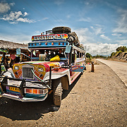 A Jeepney at raodside rest stop, Palawan, Philippines
