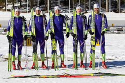 Peter Dokl, Klemen Bauer, Janez Maric, Jakov Fak and Vasja Rupnik at practice session during Media day of Slovenian biathlon team on November 12, 2010 at Rudno polje, Pokljuka, Slovenia. (Photo By Vid Ponikvar / Sportida.com)