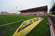 SkyBET 3D mat at the home end at The County Ground before the EFL Sky Bet League 2 match between Swindon Town and Yeovil Town at the County Ground, Swindon, England on 10 April 2018. Picture by Graham Hunt.