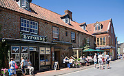 Byfords shop and pub in historic buildings in the town of Holt, north Norfolk, England