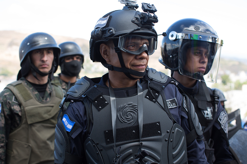 Many police and soldiers are appearing with brand-new kit on the streets. Some comment that this is due to a massive new influx of equipment paid for by the US.