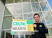 22/09/14<br /> LENNOXTOWN<br /> All smiles from Celtic manager Ronny Deila as he previews the Scottish League Cup clash with Hearts