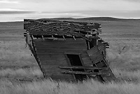Southeast Montana has more cool-looking abandoned buildings than anywhere else I've been. This old house outside of Ekalaka was leaning so much it seemed to defy gravity.