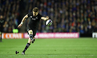 Rugby Union - 2017 Autumn Internationals - Scotland vs. New Zealand<br /> <br /> Beaded Barrett of New Zealand kicks a conversion at Murrayfield.<br /> <br /> COLORSPORT/LYNNE CAMERON