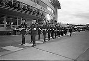 President Eamon De Valera and Irish Cadets leave for President Kennedy's funeral in Washington. At the special request of Jacqueline Kennedy, a special contingent of the Irish Army are flying to Washington to take part in J.F.Kennedy's funeral..24.11.1963