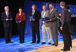 Lojze Mikolic, Lucija Polavder, Miha Potocnik, Trevor Millar and Vladimir Kevo at  Slovenian sportsman of the year 2008 ceremony, on December 22, 2008, in Cankarjev dom, Ljubljana, Slovenia. (Photo by Vid Ponikvar / SportIda).