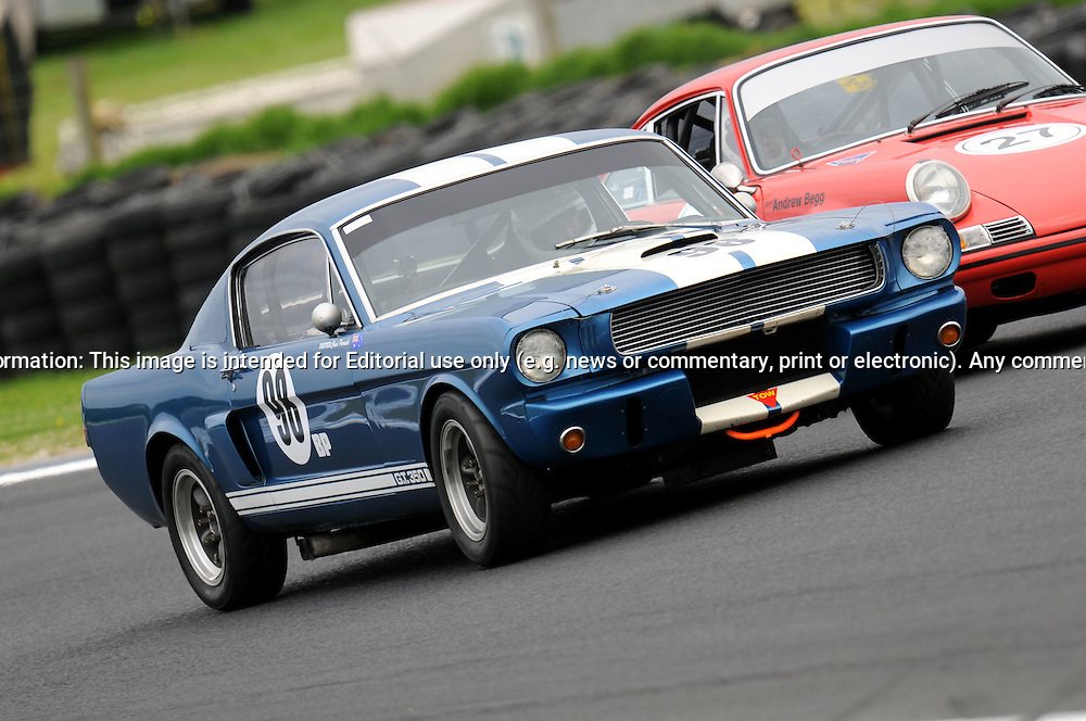 Chad Parrish - Group Sb - Shelby Mustang.Historic Motorsport Racing - Phillip Island Classic.18th March 2011.Phillip Island Racetrack, Phillip Island, Victoria.(C) Joel Strickland Photographics.Use information: This image is intended for Editorial use only (e.g. news or commentary, print or electronic). Any commercial or promotional use requires additional clearance.