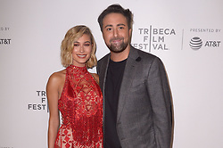 Hailey Baldwin, Bert Marcus attending the premiere of the movie American Meme during the 2018 Tribeca Film Festival at Spring Studios in New York City, NY, USA on April 27, 2018. Photo by Julien Reynaud/APS-Medias/ABACAPRESS.COM