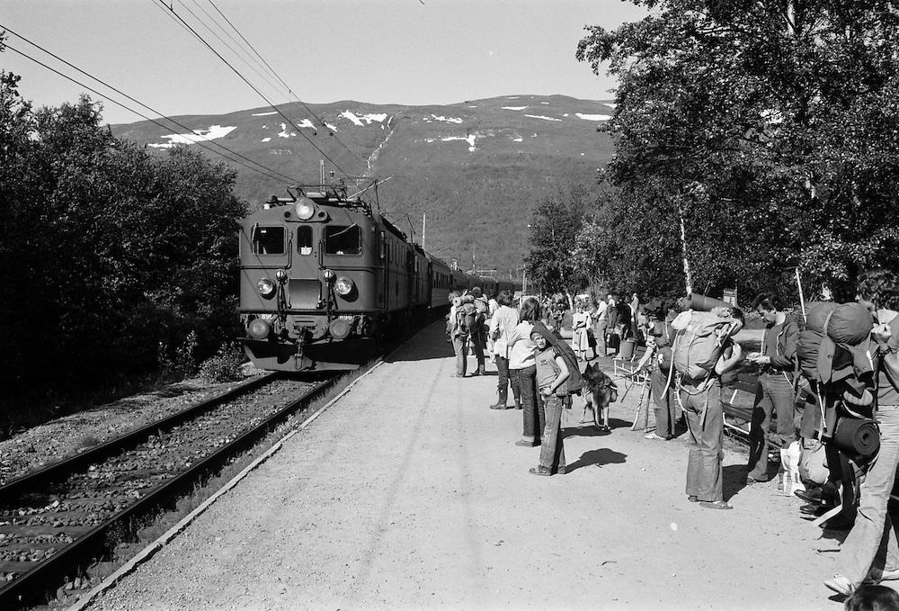 Abisko station på Malmbanan i Lappland