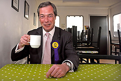 "24/04/2010 Nigel Farage, MEP and UKIP Prospective Parliamentary Candidate for Buckingham pictured at Turweston Aerodrome prior to  flying over the constituency in a plane towing a banner containing the words 'Vote for your country - Vote UKIP'..Mr Farage said ""it is going to give me great pleasure to fly over Blair Towers whilst towing my banner' a reference to Tony Blair's country home."