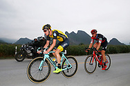 Pascal Eenkhoorn (NED - Team LottoNL - Jumbo) and Stefan Kung (SUI - BMC) during the Tour of Guangxi 2018, stage 4 cycling race, Nanning - Nongla Scenic Area (152,2 km) on October 19, 2018 in Nongla, China - Photo Luca Bettini / BettiniPhoto / ProSportsImages / DPPI