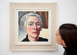 Self Portrait with Palettes by Charley Toorop at the Gemeentemuseum in The Hague, Den Haag,  Netherlands