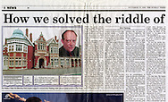 The Mansion, Bletchley Park, Milton Keynes / The Sunday Times / November 2000