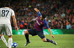 October 24, 2018 - Barcelona, Spain - Luis Suarez during the match between FC Barcelona and Inter, corresponding to the week 3 of the group stage of the UEFA Champions Leage, played at the Camp Nou Stadium, on 24th October 2018, in Barcelona, Spain. (Credit Image: © Joan Valls/NurPhoto via ZUMA Press)