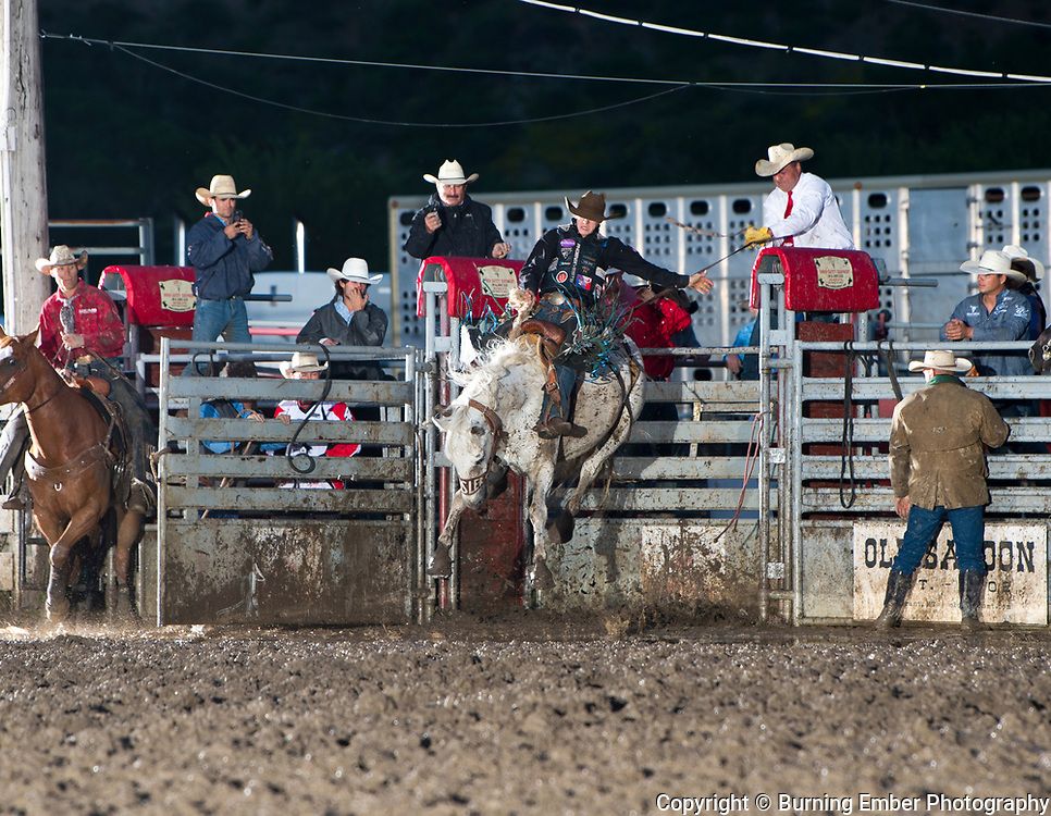 Zeke Thurston on Kesler bucking horse Pineapple Express at the Livingston Roundup 3rd perf July 4th 2019.  Photo by Josh Homer/Burning Ember Photography.  Photo credit must be given on all uses.