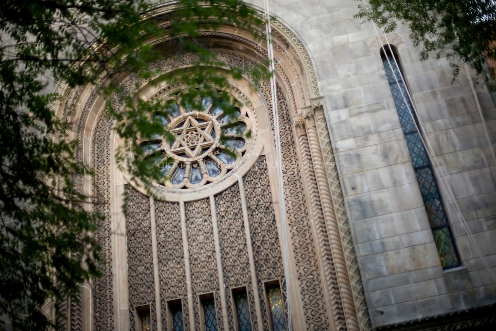 1 August, 2008. New York, NY. Exterior of the Ohab Zedek Synagogue, in the Upper West Side. The Ohab Zedek is one of the main loci of young Orthodox singles. <br />  ©2008 Gianni Cipriano for The New York Times<br /> cell. +1 646 465 2168 (USA)<br /> cell. +1 328 567 7923 (Italy)<br /> gianni@giannicipriano.com<br /> www.giannicipriano.com