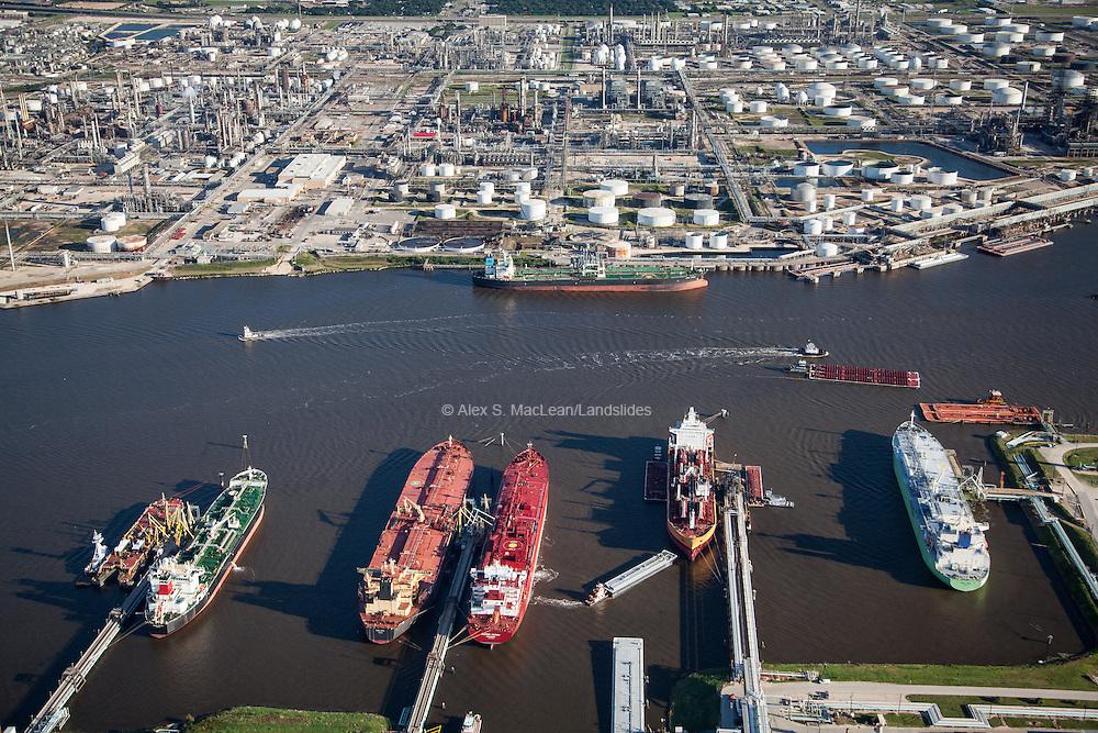 Deer Park Refining along the Houston Ship Channel