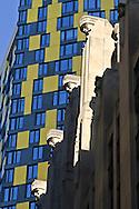 20 Exchange Place, designed by Cross & Cross, in back 15 William Street, designed by Tsao & McKown, Manhattan, New York City, New York, USA