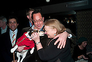 BALTHAZAR MAGLIORE; LULU; BARONESS VON POSCH, Book launch for La di da di Bloody Da! by Robin Anderson. Fleming's cocktail bar. Half Moon St. London. 8 Feb 2010.