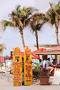 Beach bar along Junkanoo beach Nassau, Bahamas, Caribbean