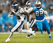 Philadelphia Eagles wide receiver Nelson Agholor runs for a touchdown vs the Carolina Panthers.