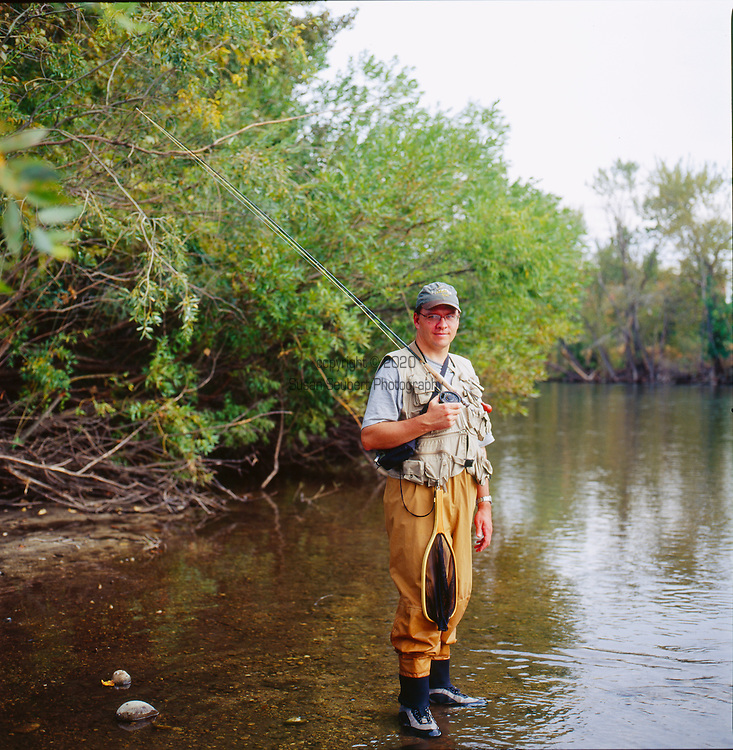 Fly fishing is popular on the Boise River which runs straight through downtown Boise, Idaho